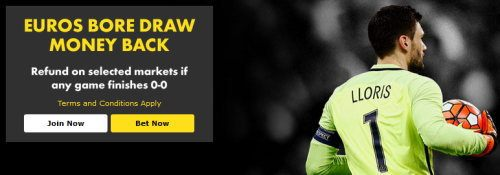 Bet365 Bore Draw Money back Euro 2016