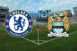 Chelsea vs Man City Premier League team logos