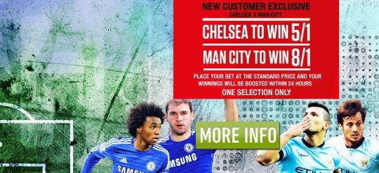 Ladbrokes Enhanced Odds Offer for Chelsea vs Man City