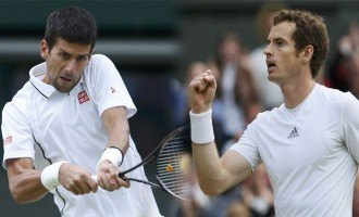 Andy Murray and Novak Djokovic at Wimbledon