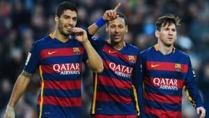 Messi Neymar and Suarez for Barcelona
