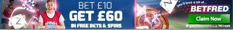 Betfred Bet £10 Get £60
