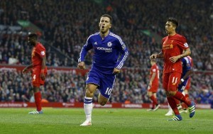 Eden Hazard has scored before at Anfield. Will he strike again on Tuesday night?