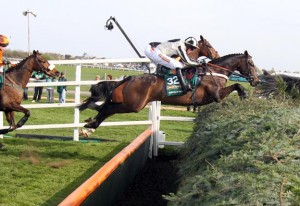 The Chair, at Aintree, is one of the most well known fences in horse racing.