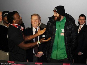 Fury v Chisora Weigh in