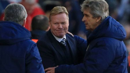 Man City vs Sotuhampton Pellegrini and Koeman