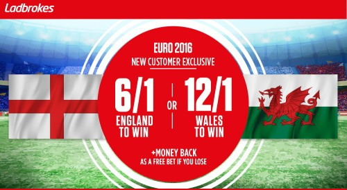 Ladbrokes England vs Wales Euro 2016 enhanced odds offer