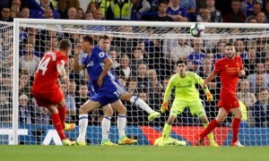Jordan Henderson scores at Stamford Bridge
