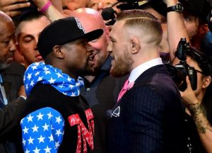 Mayweather vs McGregor Face Off