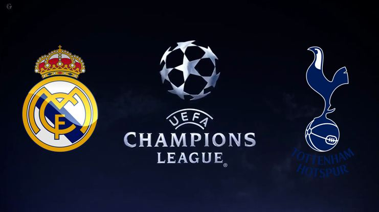 Real Madrid vs Tottenham Champions League Logos