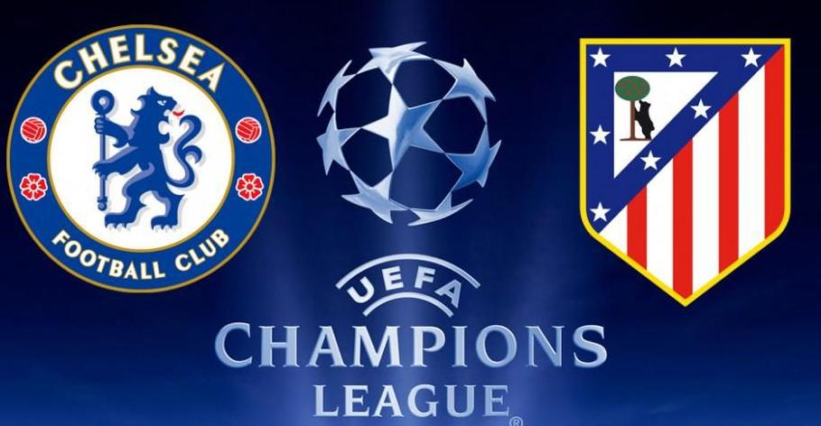Chelsea vs Atletico Madrid Champions League Logos