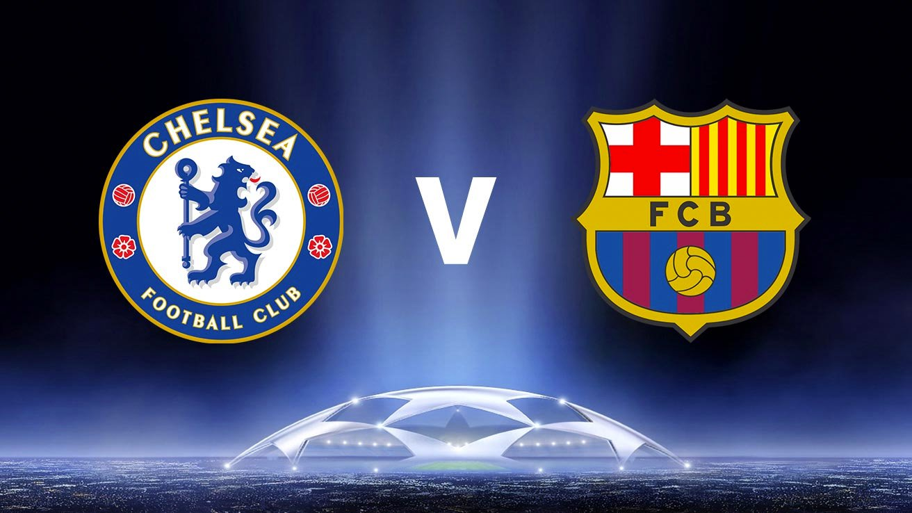 Chelsea vs Barcelona Badges