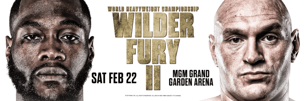 Wilder vs Fury 2 Fight Poster