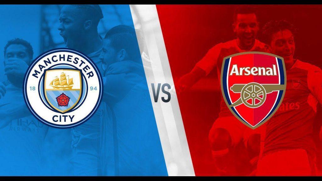 Man City vs Arsenal badges